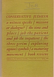 Conservative JudaIsm booklet - copyright 1967