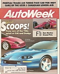 Auto Week magazine -  May 1, 1989