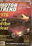 Click here to enlarge image and see more about item M6811: Motor Trend magazine - February 1978