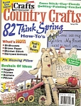 Click here to enlarge image and see more about item M6912: Country crafts magazine -  S.pring 1996