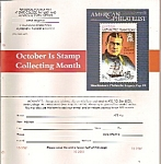 American Philatelist magazine - October 2001