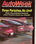 Auto Week magazine -  October 27, 1986
