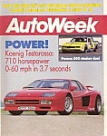 AutoWeek magazine -  July 27, 1987
