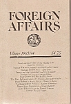 FOREIGN AFFAIRS booklet/magazine -  Winter 1983=84