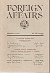 Click here to enlarge image and see more about item M7173: FOREIGN AFFAIRS  Magazine/Bool =  Summer 1986