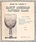 Early American Pattern glass studies -  copyright 1961