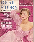Click here to enlarge image and see more about item M7265: Real Story magazine-  May 1957