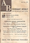Click here to enlarge image and see more about item M7319: Bookman's Weekly = May 26, 1975