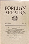 Click here to enlarge image and see more about item M7479: Foreign Affairs  book/magazine   Fall 1983