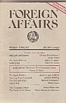 Foreign Affairs booki/magazine-  Winter 1986-87