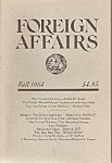 Click here to enlarge image and see more about item M7728: Foreign Affairs book/magazine -  Fall 1984