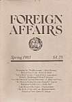 Click here to enlarge image and see more about item M7730: Foreign Affairs book/magazine -  Spring 1983