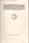 Click here to enlarge image and see more about item M7865: Speculum(Medieval studies) journal - January 1995