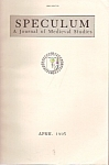 Click here to enlarge image and see more about item M7866: Speculum ( Medieval studies)Journal -  April 1995