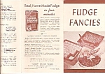Fudge Fancies brochure -  Junket quick fudge