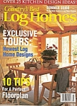 Click here to enlarge image and see more about item M8355: Country's best LOG HOMES - Summer guide  July 1999