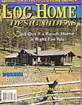 Click here to enlarge image and see more about item M8356: Log Home design ideas magazine -  September 1998
