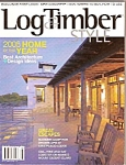 Click here to enlarge image and see more about item M8358: Log & Timber style magazine -  August 2005