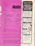 Click here to enlarge image and see more about item M8547: Dude magazine -  September 1973