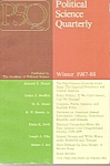 Click here to enlarge image and see more about item M9758: Political Science quarterly -  Winter 1987=88