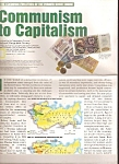 Click here to enlarge image and see more about item M9759: Communism to Capitalism chart and map - March 1993