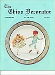 Click here to enlarge image and see more about item Ma4372: The China Decorator  = September 1990