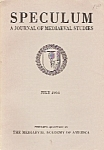Click here to enlarge image and see more about item Ml7876: Speculum(Mediaeval studies) booki/magazine  July 1964