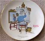 Click here to enlarge image and see more about item NROCK1: Norman Rockwell MEMORAIL Portrait Pl Gorham