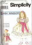 DAISY KINGDOM PAGEANT DRESS SIZE 3 - 6 FF OOP