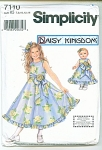 GIRLS AND DOLL DRESS PATTERN UNCUT