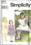 Click here to enlarge image and see more about item 9784:    SIMPLICITY SZ 2,3,4 OOP UNCUT GIRLS DRESS