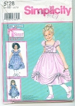 Click here to enlarge image and see more about item PAT5128: DAISY KINGDOM PAGEANT DRESS UNCUT