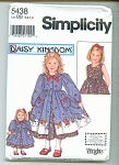 DAISY KINGDOM GIRLS AND DOLL DRESS  PATTERN