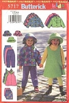 Click here to enlarge image and see more about item 5717: BUTTERICK FOR KIDS  FLEECE JACKET AND MORE 57