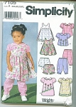 Click to view larger image of SIMPLICITY BABY PATTERNS  7105 (Image1)
