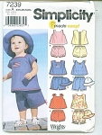 Click to view larger image of SIMPLICITY BABY PATTERNS   7239 (Image1)