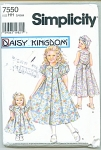 Click to view larger image of DAISY KINGDOM GIRLS AND DOLL DRESS  PATTERN (Image1)