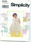 Click to view larger image of SIMPLICITY BABY PATTERNS  8538 (Image1)
