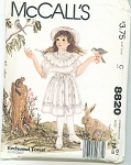 Click here to enlarge image and see more about item 8820: SIMPLICITY GIRLS PATTERN