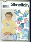 Click to view larger image of SIMPLICITY BABY PATTERNS  9782 (Image1)