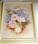 Click here to enlarge image and see more about item PIC2: D. L.- RUSTY - RUST  ARTIST PAINTING FLOWERS