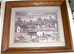 Click here to enlarge image and see more about item Pic44: ROBERT LEBRON New England Fishing Village