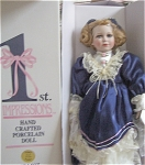 Click here to enlarge image and see more about item Recod15: FIRST IMPRESSIONS  NAN DOLL PORCELAIN 2ft