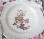 Click here to enlarge image and see more about item SC125A: MIB HOLLY HOBBIE 1976 Plate LOT O LOVING MINT