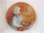 Click here to enlarge image and see more about item Sk7: MORNING SONG  PLATE  by SANDRA KUCK BOX   COA