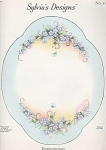 Click here to enlarge image and see more about item SM13: FORGET-ME-NOTS~TRAY~SYLVIA McMICHAEL~OOP~1954