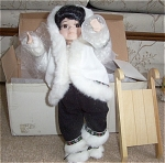 Click here to enlarge image and see more about item SNOWDOLL1: ROYALTON COLLECTION ESKIMO DOLL