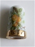 Click here to enlarge image and see more about item THBL1: 1 OF A KIND HAND PAINTED PORCELAIN THIMBLES