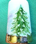 Click here to enlarge image and see more about item THMBL16: PINE TREE THIMBLE SNOW SCENE
