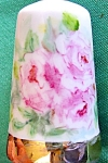 Click here to enlarge image and see more about item thmbl31: ROMANTIC HP  PORCELAIN THIMBLE W/ PINK ROSES